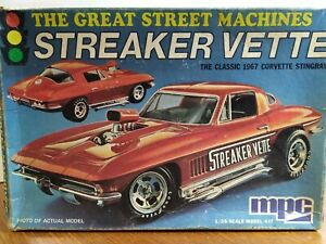 MPC STREAKER VETTE 1967 CORVETTE STINGRAY MODEL KIT 1/25 SCALE NO.1-3703