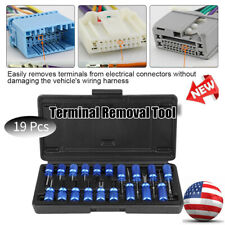 19Pcs Car Electrical Connector Terminal Release Removal Tool Kit Universal Blue