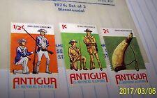 ANTIGUA 1976 STAMP SET BICENTENNIAL SET #423-26 MNH LOT 8