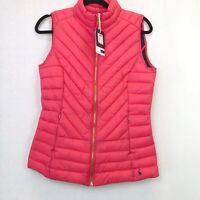 BNWT Joules Brindley Quilted Gilet Sleeveless Jacket Red Sky UK Size 6