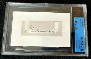 MUHAMMAD ALI Autograph 5 X 3 Cut / Inscribed Full Signature BVG  JSA   Authentic
