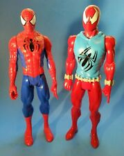"""2013/2016 Marvel Hasbro Two Spider-Man 11.5"""" Action Figures"""