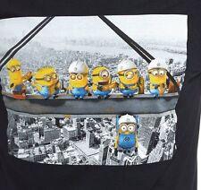 Despicable Me Minion Workers Black Adult Large T-shirt Men's