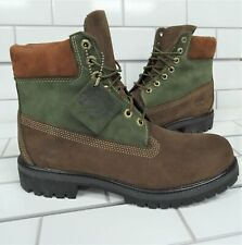 "Timberland 6"" Boots, Beef and Broccoli (Brown and Green) Nubuck"