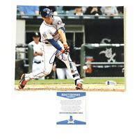 Carlos Correa signed 8x10 photo BAS Beckett Houston Astros Autographed