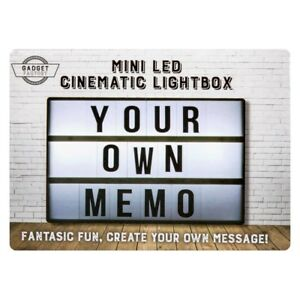 A6 MINI LED Cinematic Message Light Box Retro Novelty Party Decor Gift Memo NEW