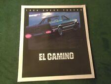 MINT CHEVROLET 1984 CHEVY EL CAMINO PICKUP TRUCK SALES BROCHURE NEW~#878