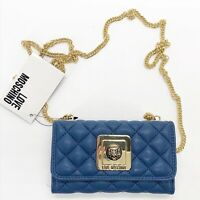 PORTA CELLULARE COVER APPLE IPHONE 6 DONNA LOVE MOSCHINO BLUE MODA BAG
