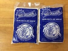 2packages FROM EL SALVADOR 12 OZ RIO GRANDE HORCHATA DE ARROZ RICE ORGEAT