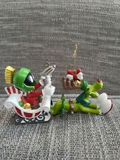 Marvin The Martian Christmas Ornament Marvin & K-9 With Box 1996 Warner Bros.