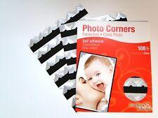 Silver Colour Photo Corners Self Adhesive Sticky Acid Album Scrapbook Frame