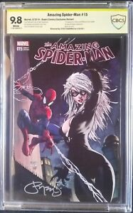 Amazing Spider-Man (2015) #1 Aspen Variant CBCS (like CGC) SS 9.8 1x Steigerwald