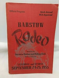 1955 Barstow California Rodeo Program