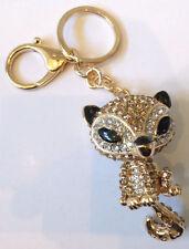 Rhinestone Bling Cute Key Chain Fob Phone Purse Charm Foxy Fox