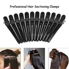 12Pcs Black Hair Grip Clips Hairdressing Sectioning Cutting Clamps Plastic H4Y1