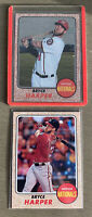 Bryce Harper 2017 Topps Heritage SP Action Variation & Chrome /999 #427 Lot Of 2