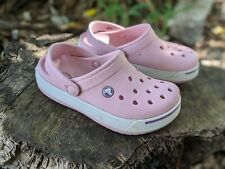 CROCS Crocband Clogs Sandals Pink Girl's Size J2