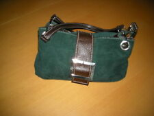 Traumhafte Damen Handtasche Wildlederoptik Grün