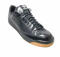 Adidas Rod Laver Lux Black Snake Skin Gum Vintage Sneaker Tennis Shoes Men 13