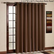 RHF Thermal Insulated Blackout Patio door Curtain Panel, Sliding door curtains,