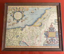 1800's Copy The Holy Land Theatrum Orbis Terrarum 1573 By Abraham Ortelius MAP