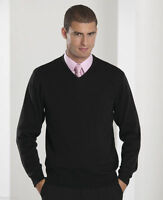 Mens Big Size V neck long sleeve Black Knitted jumpers sweater 3XL, 4XL, 5XL