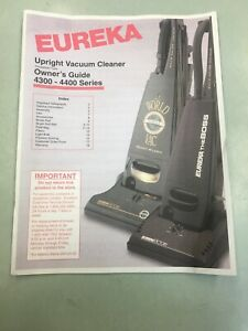 Eureka world vacuum owner guide 4300-4400 Series good condition