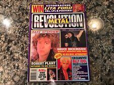 Revolution Metal Magazine! Sept 1990. Bruce Dickinson Billy Idol & Lita Ford