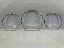 Honda Prelude 1988-1989 Cerclages De Compteur Aluminium Anneaux Chrome Neuf x3