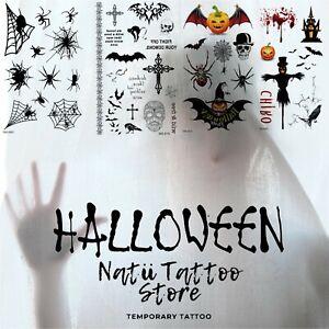 Halloween Temporary tattoo sticker sleeve Horror men women adults body art