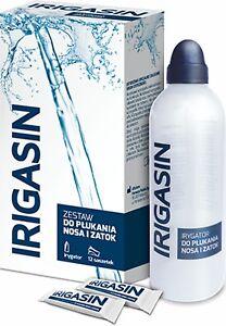 Irigasin set for sinus rinsing(IRIGATOR +12 SACHETS) -Acute or chronic sinusitis