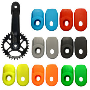 Bicycle crank arm protector boots protection cover covers cap cycle MTB pair
