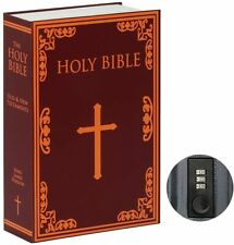 Secret Hidden Book Safe Combination Lock Money Cash Jewelry Security Box Bible