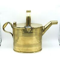 Antique mid to late 1800's solid brass watering can. Wonderful Victorian piece.
