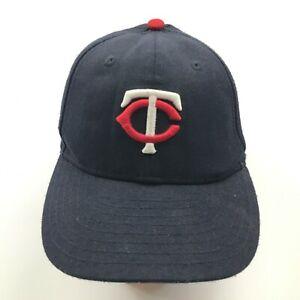 VINTAGE New Era Minnesota Twins Hat Cap Strapback Youth Black Red Adjustable MLB
