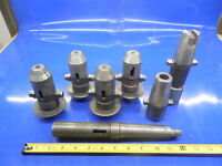 6PC LOT OF KWIK SWITCH 300 TOOL HOLDERS TOOLING MORSE TAPER ADAPTER CNC MILLING
