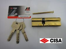 CISA ASTRAL ANTI-SNAP EURO DOUBLE CYLINDER WITH REGISTRATION CARD 40/60 - BRASS