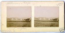 Villeneuve-Triage . camp Anglais.  vers 1900/1910. photo stéréoscopique