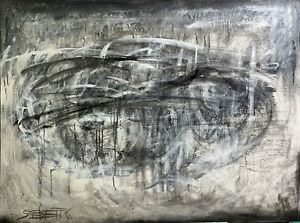 SUE BETTS ART 'Tempest' Original acrylic abstract painting. Large Artwork