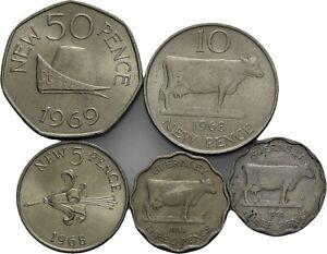 Savoca Coins Guernesey Lot von 5 verschiedenen Münzen =BZB78840