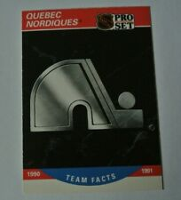 Quebec Nordiques (Colorado Avalanche) 1990-91 Team Facts Card NHL Pro Set #581
