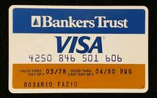 Bankers Trust Visa exp 80♡Free Shipping♡cc349♡credit card