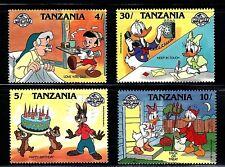 SELLOS TEMA DISNEY. TANZANIA 1988 391/98 4v.