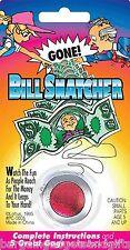 MONEY NOTE BILL SNATCHER FUNNY JOKE MAGIC TRICK BOYS MENS CHILDRENS PRANK GIFT