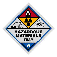 Hazardous Materials Team Haz Mat Firefighter Reflective Decal Sticker