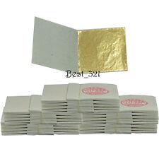 """500 Gold Leaf  1.8"""" x 1.8""""  Veritable Leaves Sheets on Base Gilding Design & Art"""