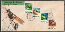 MALAYSIA 1991 Insects Wasps FDC toned as scan
