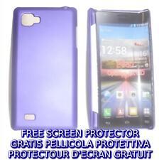 Pellicola+custodia BACK COVER VIOLA rigida per LG Optimus 4X HD P880