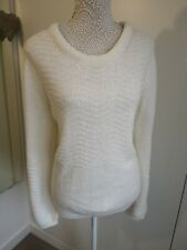 Lakeland Size 16 Ivory Knitted Jumper Wool Blend