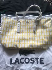 Bnwt Lacoste Shopper Tote Hand Bag Rrp €165 Dust Bag White & Yellow